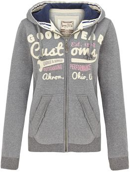 "Goodyear Fashion Damen Zip-Sweatshirt ""Emporia"""